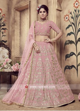 Exclusive Pink Lehenga Choli with Embroidery