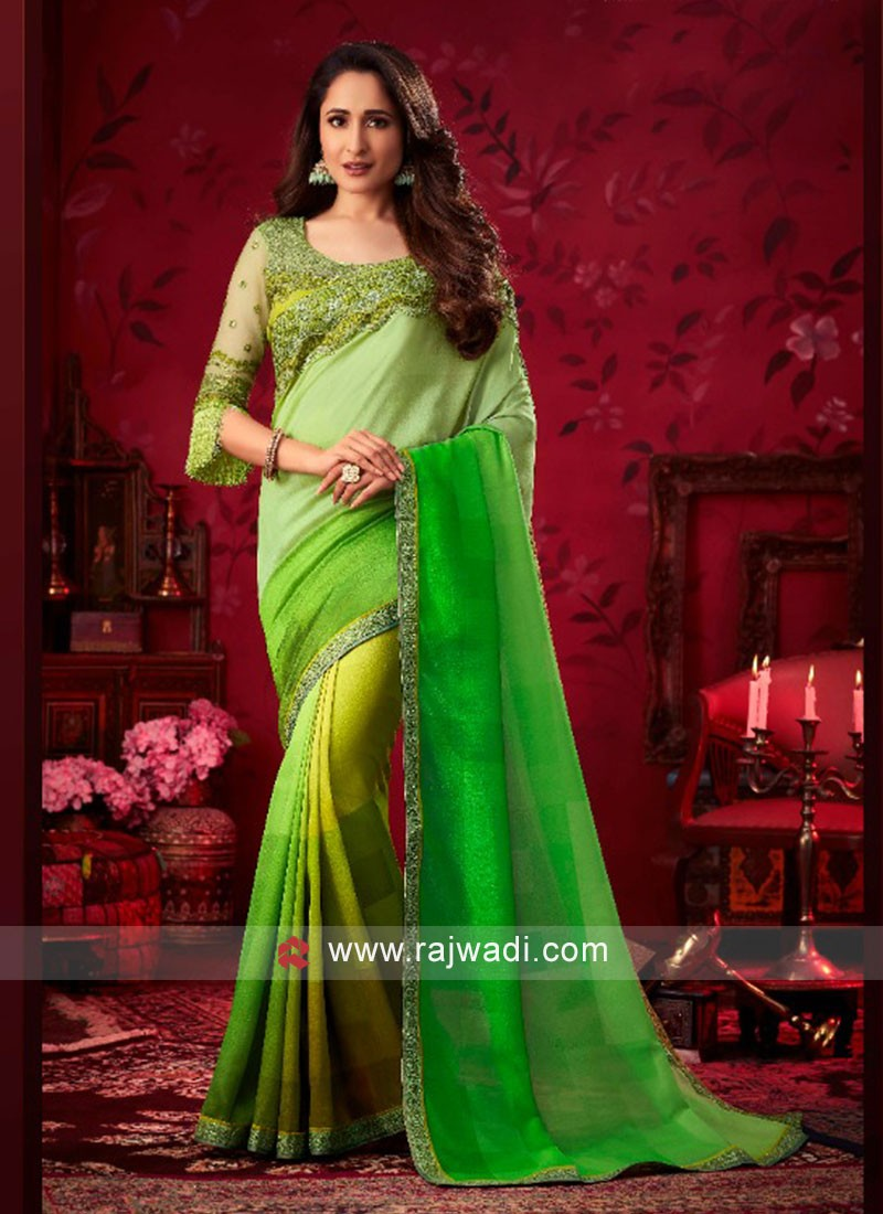 Exclusive Shaded Party Wear Saree