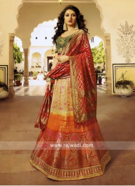 Exclusive Shaded Wedding Lehenga Choli