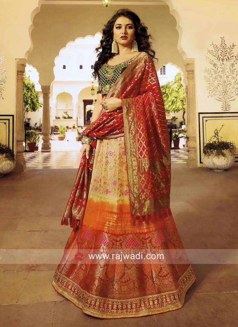 Exclusive Shaded Wedding Lehenga Choli