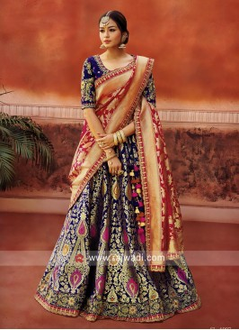 Exclusive Wedding Lehenga Set in Navy Blue