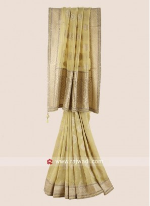 Exclusive Wedding Saree in Golden Yellow