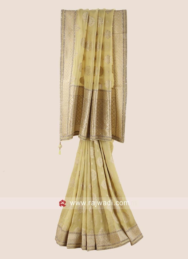 Exclusive Wedding Saree in Golden Yellow