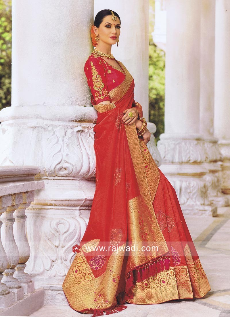 Exclusive Wedding Saree with Blouse