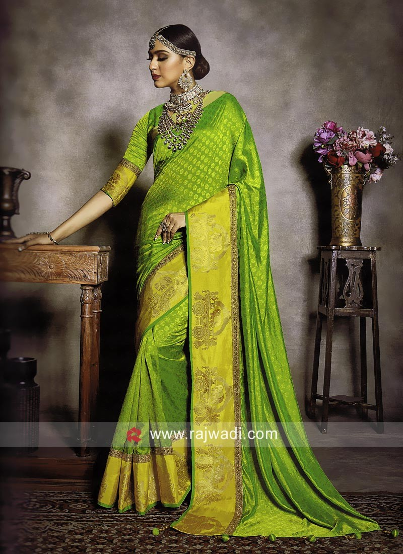 Exclusive Wedding Saree with Zari Work
