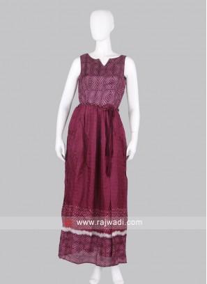 Exclusive Wine Maxi Dress