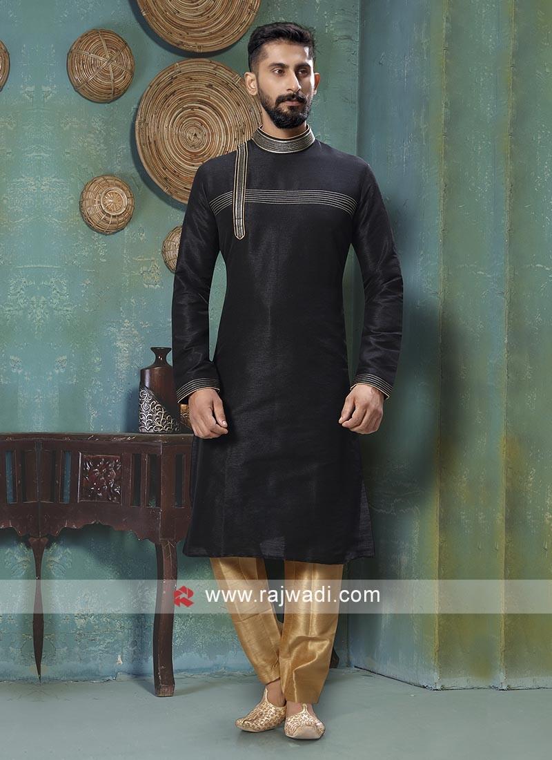 Exquisite Black Kurta Pajama