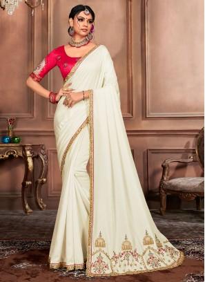 Exquisite Embroidered Traditional Designer Saree