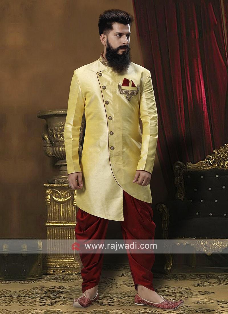 Exquisite Golden Cream Patiala Suit