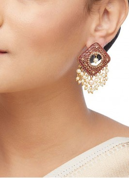 Exquisite Red Earrings