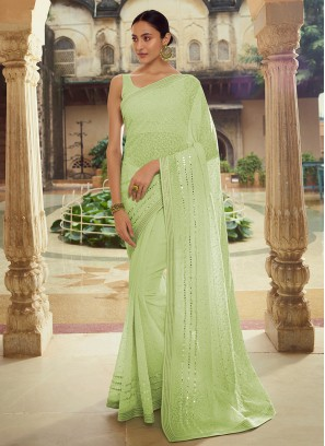 Eye-Catchy Mirror Sangeet Classic Designer Saree