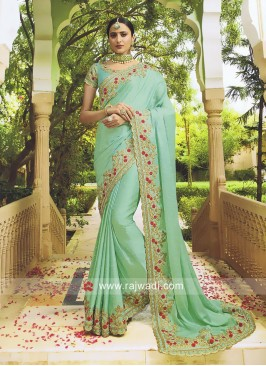 Raw Silk Designer Saree