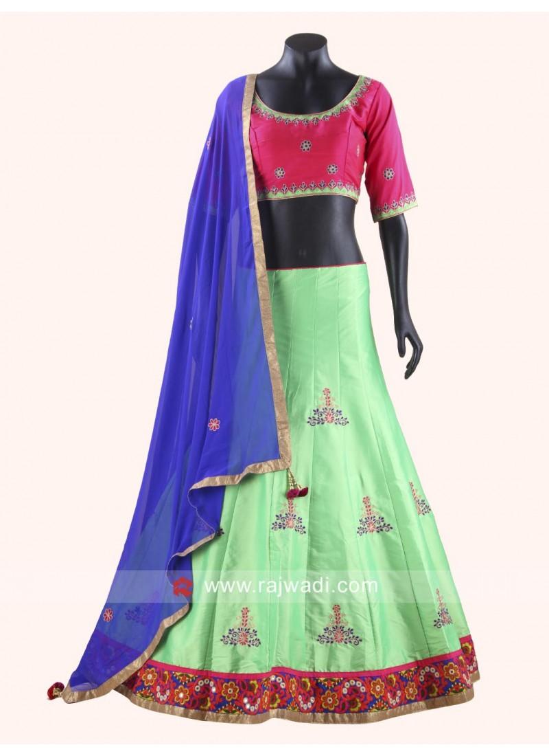 Fabulous Art Raw Silk Chaniya Choli