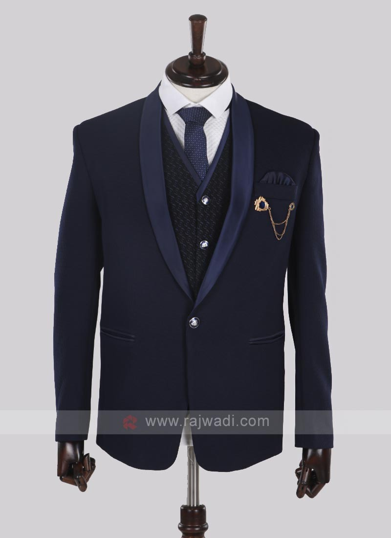 Fabulous imported fabric navy blue suit