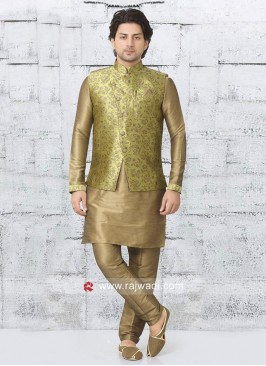 Fabulous Brocade Silk fabric Nehru Jacket