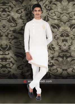 Fabulous White Color Pathani Set