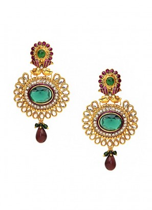 Fanciable Maroon Drop Earrings