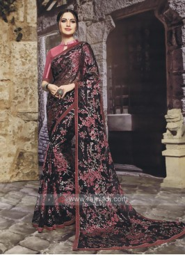 Fancy Chiffon Brasso Saree