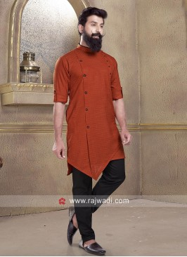 Fancy Rust Pathani Suit