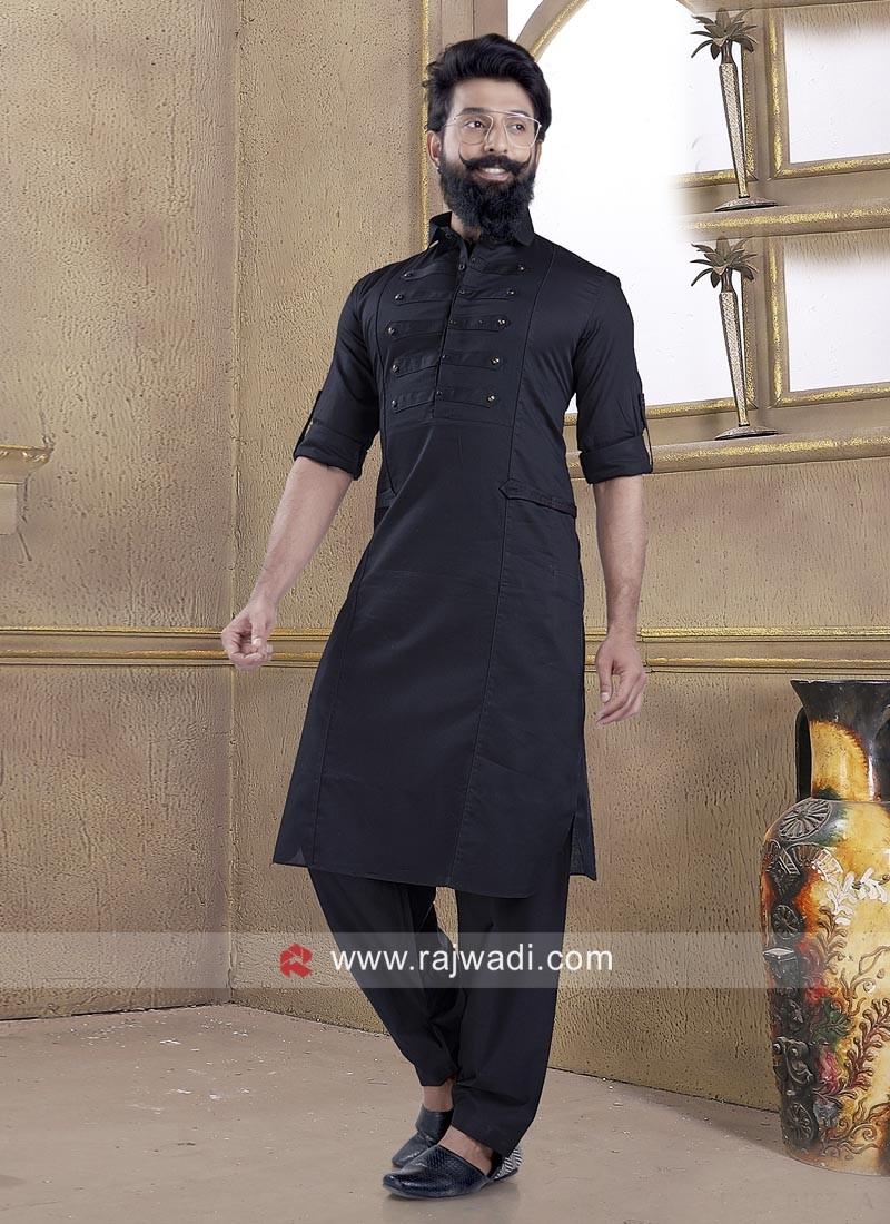 Fancy Cotton Silk Pathani Suit