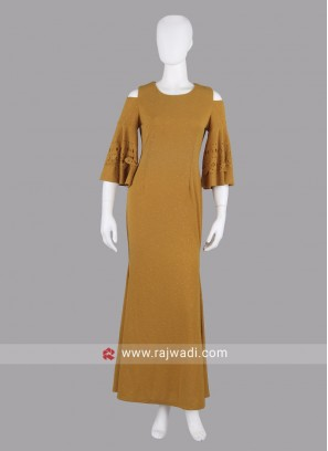 Fancy Mustard Yellow Maxi Dress