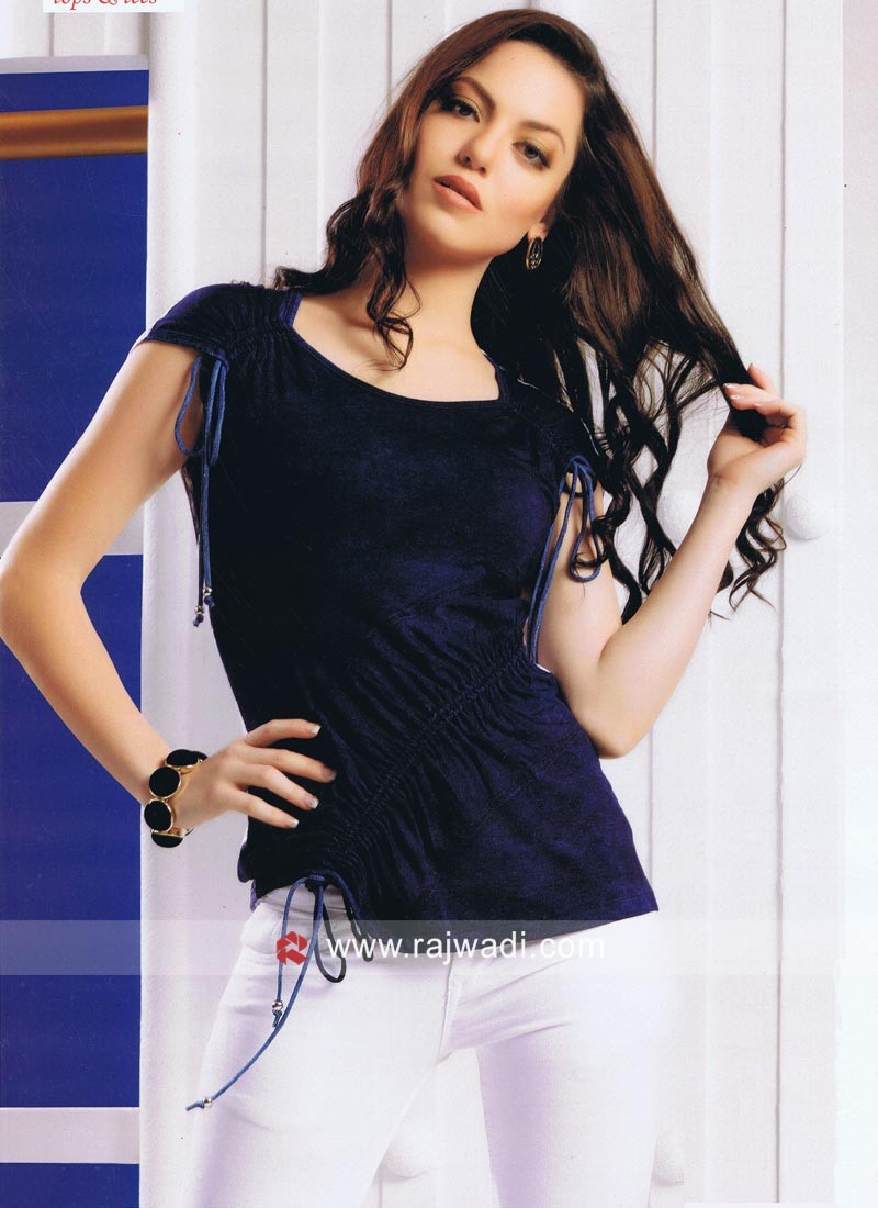 Fancy Navy Blue Top