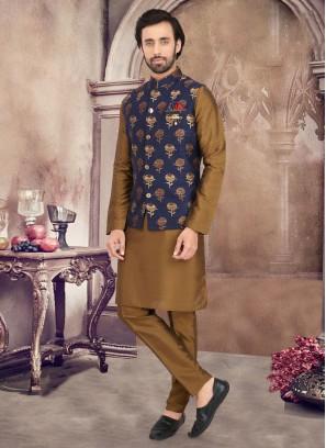 Fancy Nehru Jacket Set For Wedding