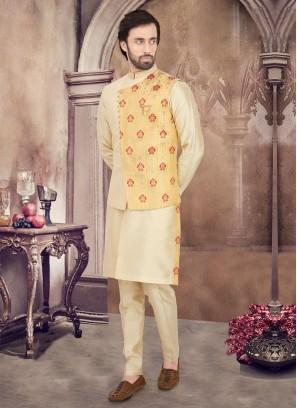 Fancy Nehru Jacket Suit