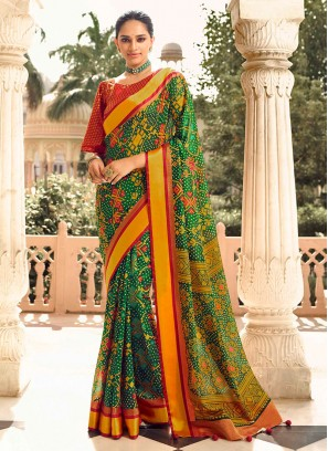 Fancy Printed Art Dola Silk Saree