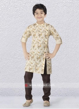 Fancy Side Buttons Kurta Pajama Set