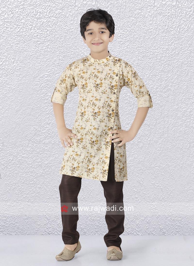 Fancy Side Buttons Kurta Pajama Set