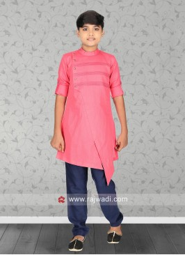 Pink Kurta Set For Boys