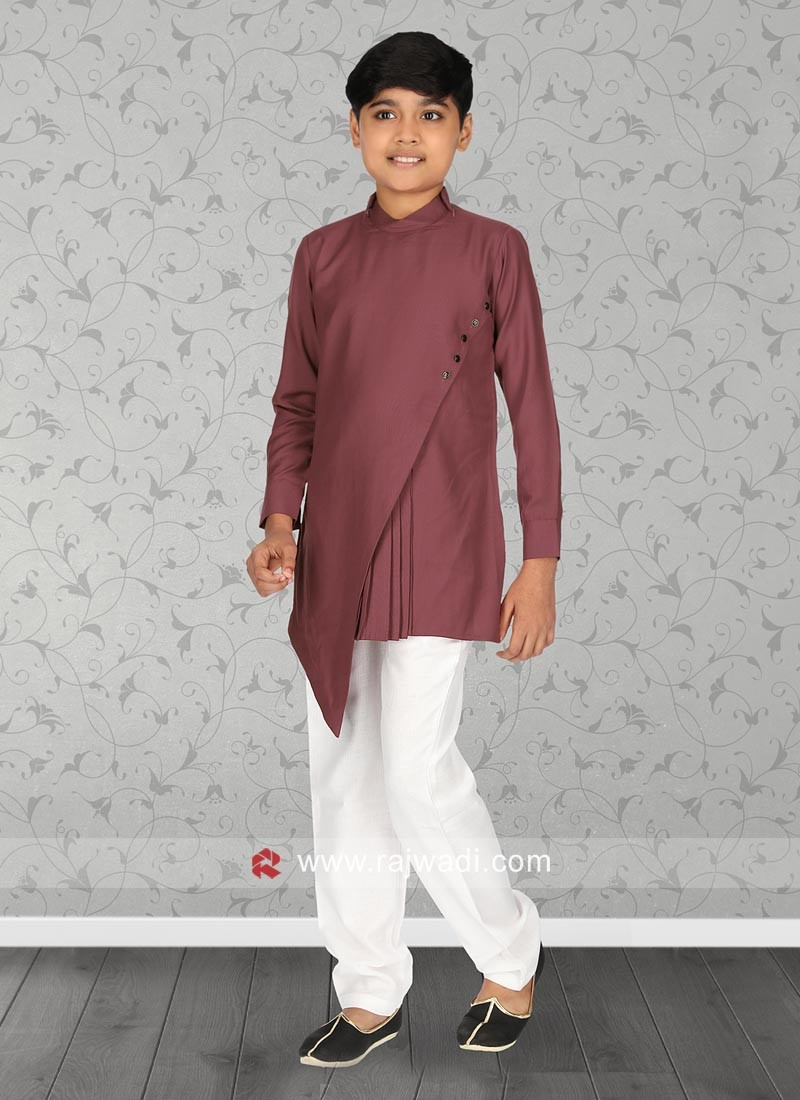 Rosy Brown Color Kurta Set