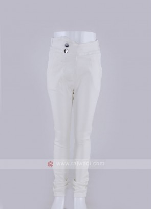 fancy white jeggings