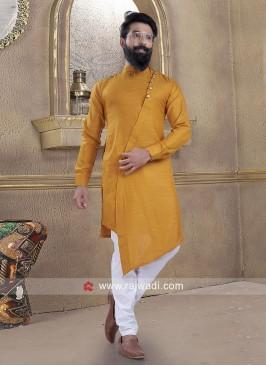 Fantastic Cotton Silk fabric Pathani Suit