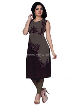 Fantastic Purple and Olive coloured Kurti