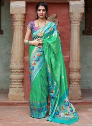 Fantastic Weaving Silk Traditional Designer Saree