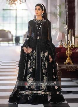 Faux Georgette Black Dress