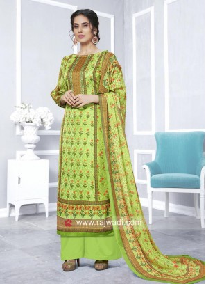 Faux Georgette Casual Palazzo Suit