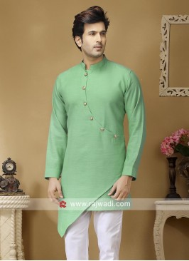Light Green Color Kurta For Party