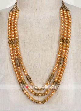 Fawn Color Pearl Mala For Dulha