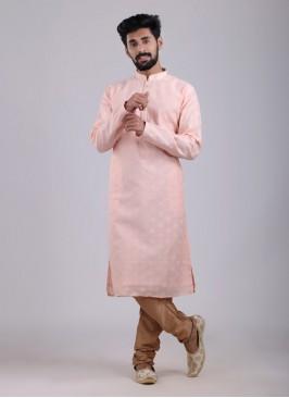 Festive Wear Kurta Pajama In Pink Color