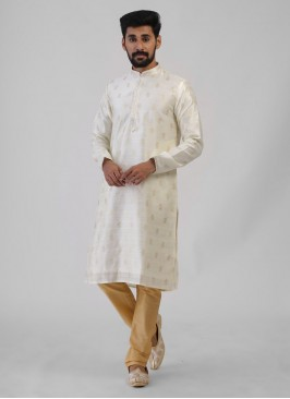 Festive Wear Off-White Kurta Pajama