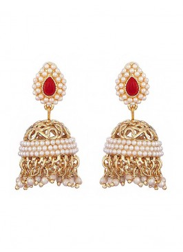 Filigree Pearl Jhumki Earrings