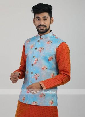 Firozi Color Nehru Jacket