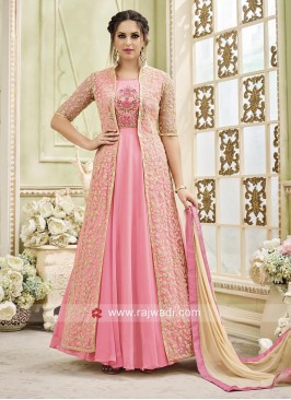 Flare Salwar Kameez with Designer Jacket