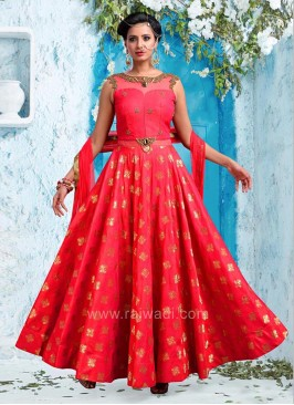 Flared Sleeveless Anarkali Dress