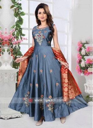 Floor Length Anarkali Dress for Wedding