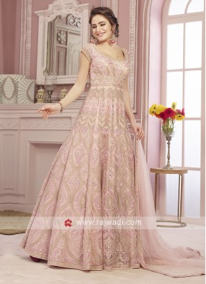 Floor Length Anarkali Suit in Pink