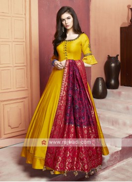 Floor Length Anarkali Suit with Dupatta